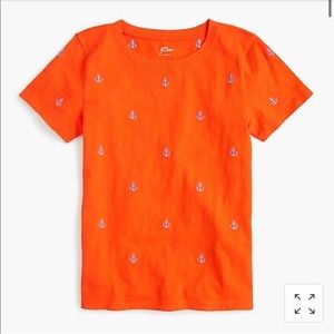 J. Crew Embroidered Anchor Tee T-Shirt XS NWT